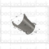 "Beck / MTM  Standard Transitional 24"" Fold-Over Chute"