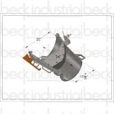 "Beck / MTM  Standard Transitional 24"" Fold Over Chute with Finger Saver & Spill Stopper"