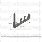 Beck / MTM Frame Standard Chute Bracket