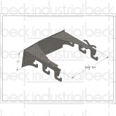 Beck/MTM Paver Extension Chute Vertical Front Pedestal Mount Hanger