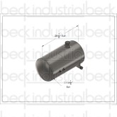 "Beck 14"" Cylindrical Hydraulic Tank (14 Gallon Capacity)"